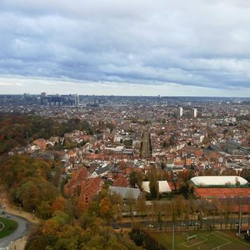 La città vista dall'Atomium